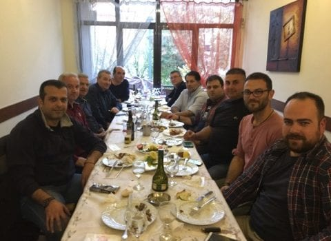 Γεύμα εργασίας του Προεδρείου της Σ.Κ.Α. Ξάνθης με τον Δήμαρχο Ξάνθης κ. Δημαρχόπουλο Χαράλαμπο